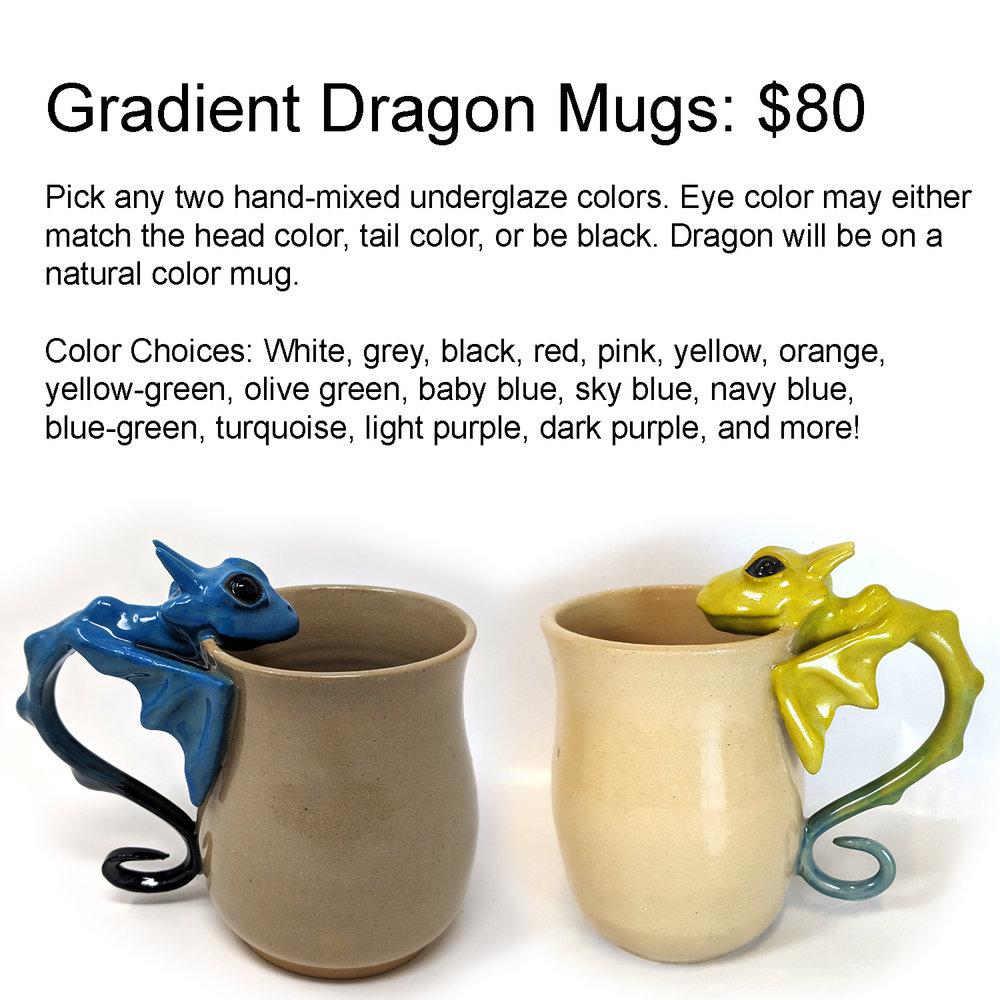 gradient dragon mug