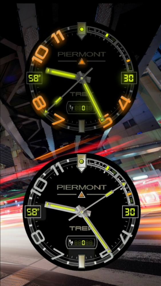Piermont Trek Smartwatch with Current Temp, Step Counter, Date, Watch & Phone Battery Meters