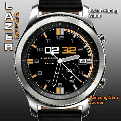 Lazer Racer ~ Orange for Samsung Gear watches http://apps.samsung.com/gear/appDetail.as?appId=com.watchface.LazerRacer