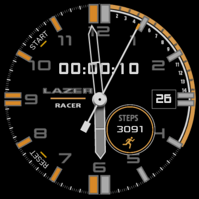 Tap Start for Stopwatch Mode & Digital time is replaced by Stopwatch Counter