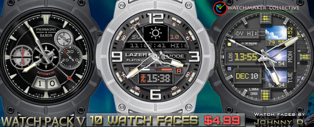 MY FIFTH 10 PACK. REQUIRES WATCHMAKER ANDROID APP