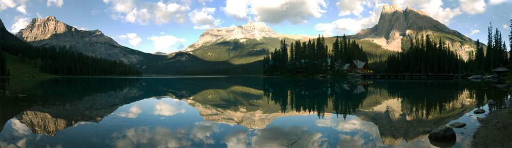 Emerald Lake, BC (inside Yoho National Park) is one of the most magical places in all of Canada. As part of Canada 150, here is the fifth (and final) photo (sixth in the series) of Emerald Lake. N.B.: This large panorama that is available in additional sizes for purchase.