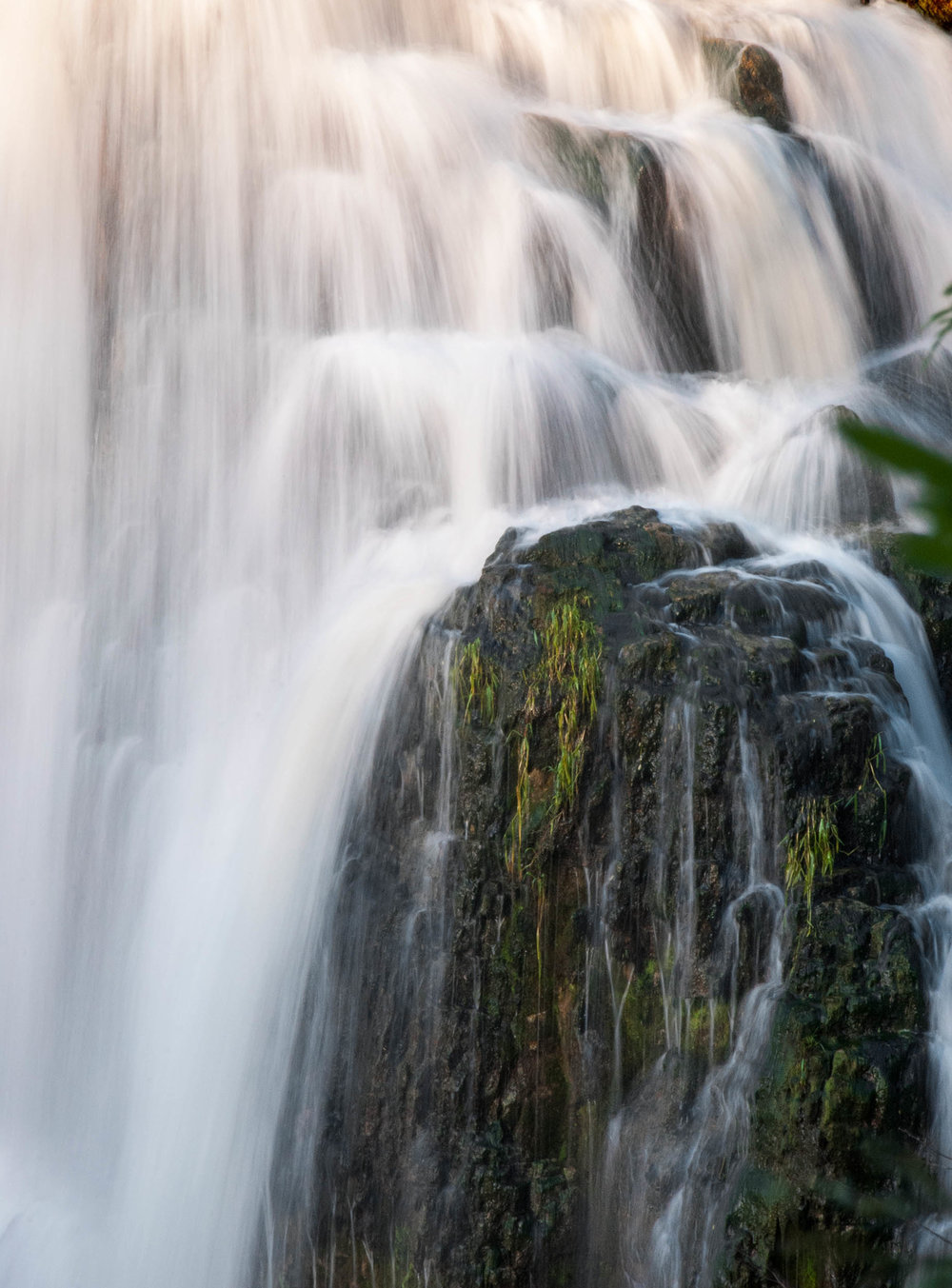 The Sydenham River flowing down the Niagara Escarpment at Inglis Falls, Ontario.
