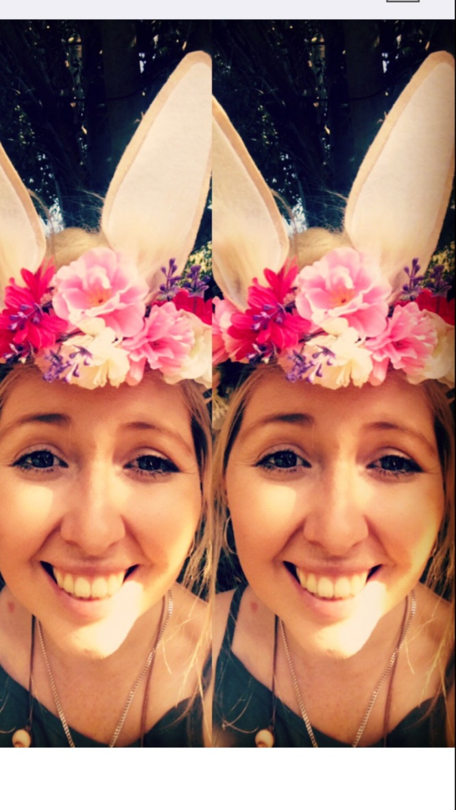 LEXIE LOVING HER NEWLY CREATED BUNNY + FLOWER CROWN