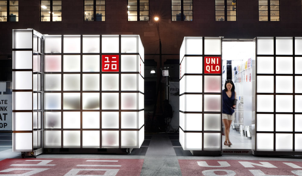 ImagiCorps was asked to build a series of six pop-up stores as a primary launch platform for Uniqlo's US debut.
