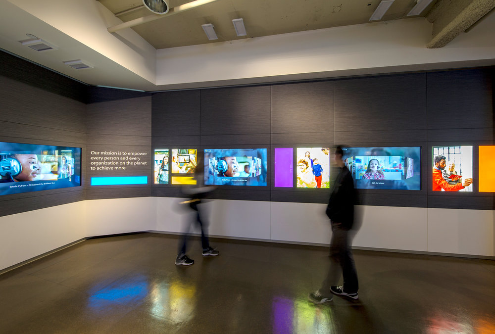 Microsoft Visitor Center - ImagiCorps has been a key partner in helping Microsoft combine the company's history and future in this immersive, interactive exhibition.