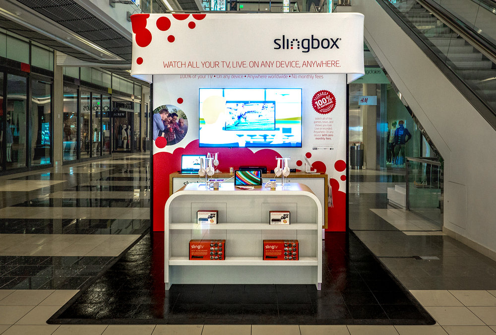 206 Inc partnered with ImagiCorps to design, engineer and fabricate an engaging and compelling pop-up retail store concept for Slingbox.