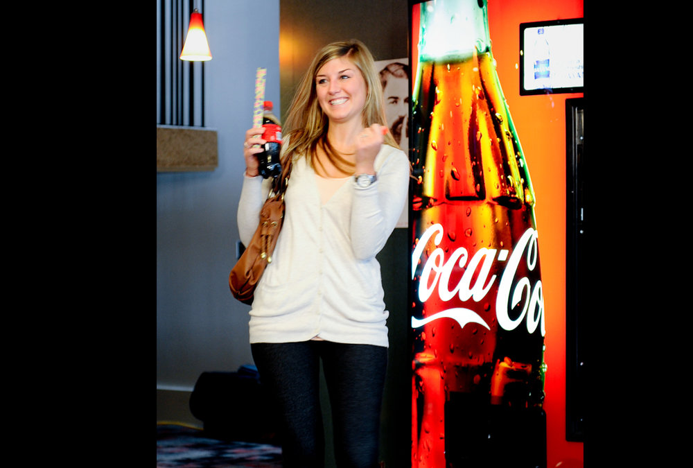 Coca-Cola Open Happiness vending machine.