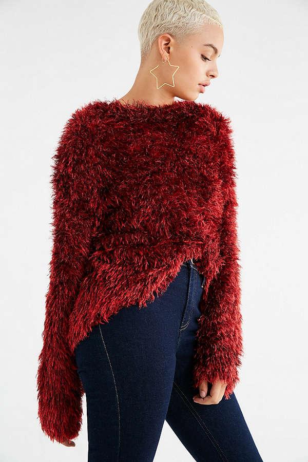 UO Tara Fuzzy Pullover Sweater