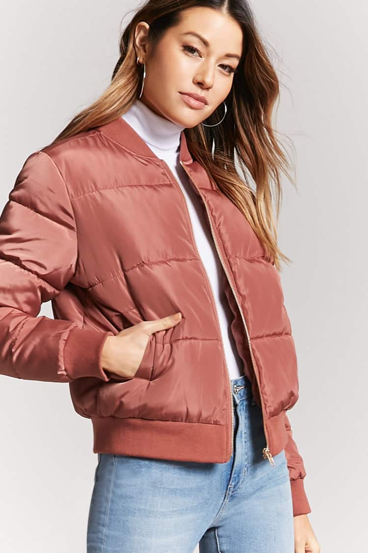 Zip-Up Puffer Jacket