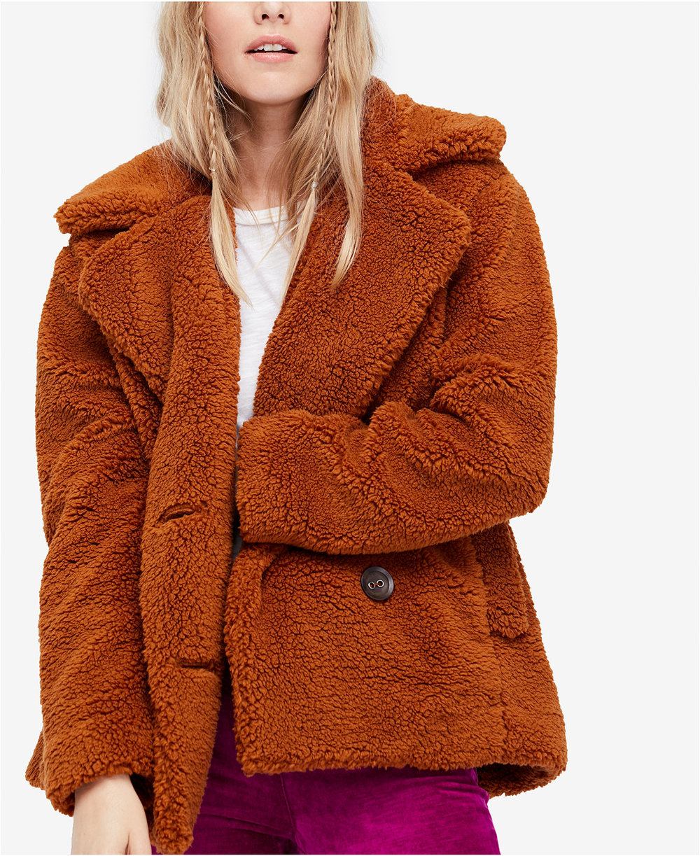 Free People Teddy Faux-Fur Peacoat