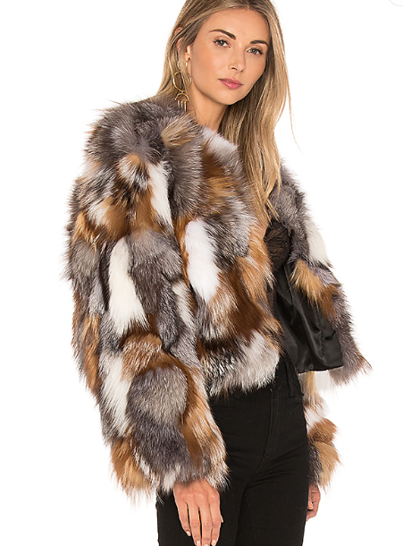 FOX FUR SECTIONS JACKET  JOCELYN jocelyn