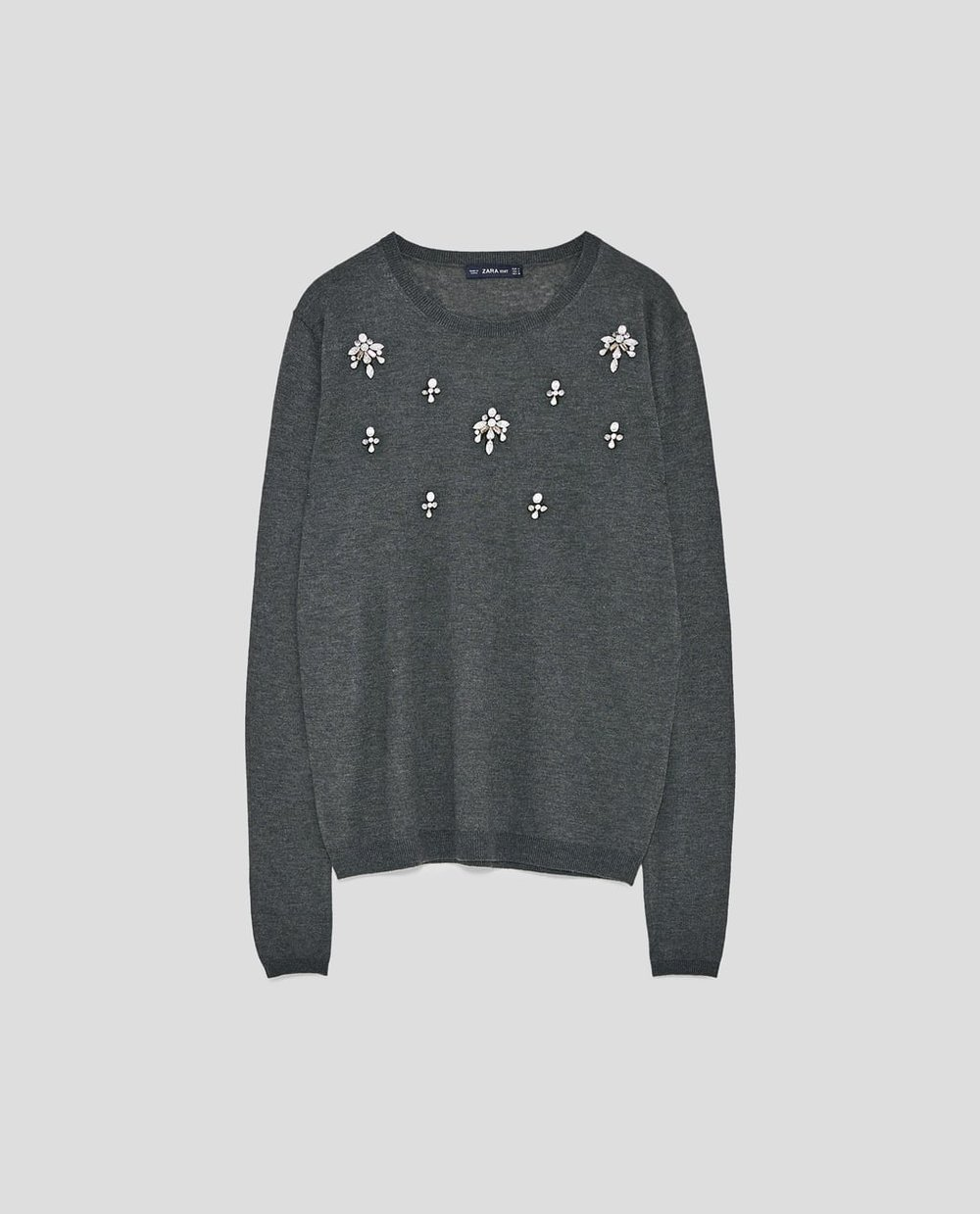 SWEATER WITH BEJEWELLED APPLIQUÉS