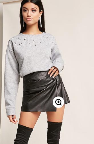 Faux Pearl Sweatshirt