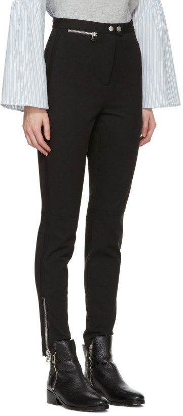 3.1 Phillip Lim  Black Ankle Zip Leggings