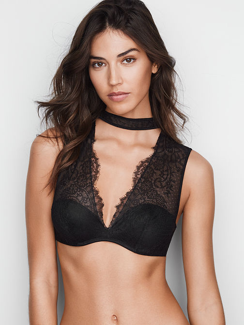 Chantilly Lace Choker Plunge Bra