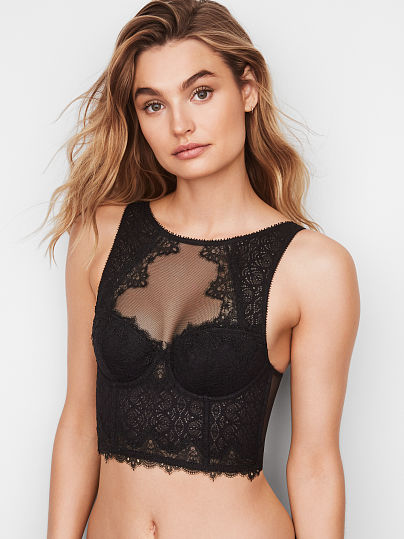 DREAM ANGELS NEW! Chantilly Lace High-neck Bra