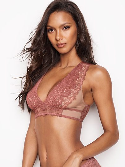 DREAM ANGELS NEW! Chantilly Lace Plunge Bralette