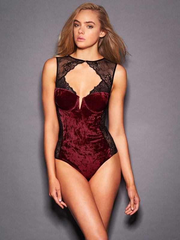 MILANA CRUSHED VELVET TEDDY