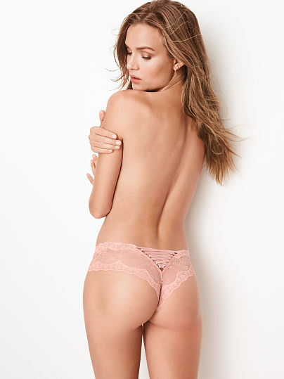 VERY SEXY NEW! Floral Lace Lace-up Cheeky Panty