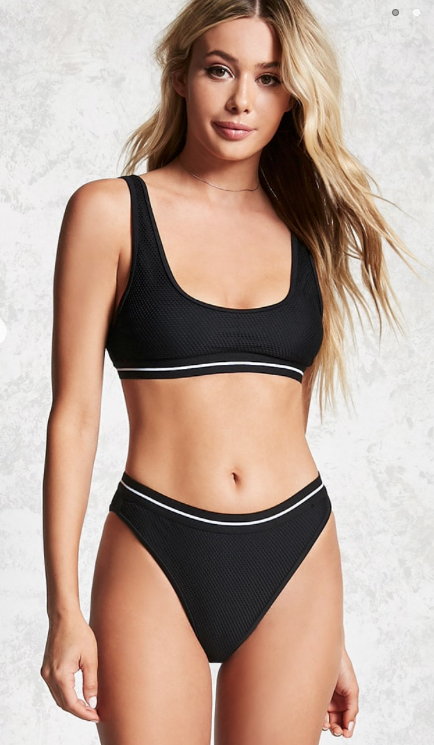 Mesh High-Waist Bikini Bottoms