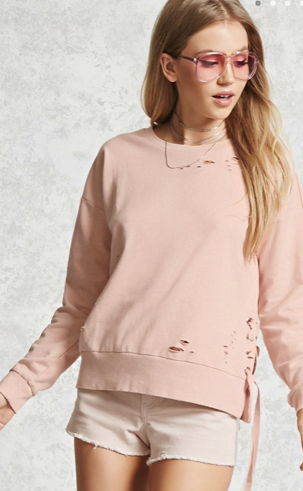 Contemporary Ripped Sweatshirt