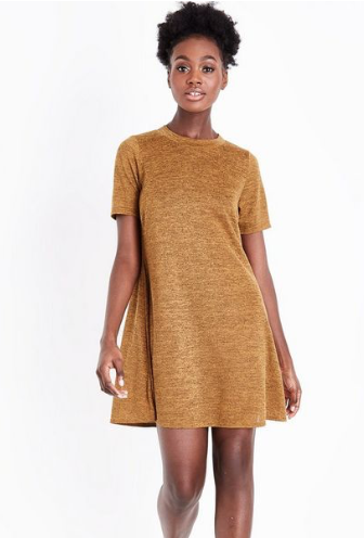 Mustard Fine Knit Swing Dress