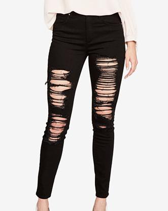 RACHEL Rachel Roy Rachel Ripped Skinny Jeans