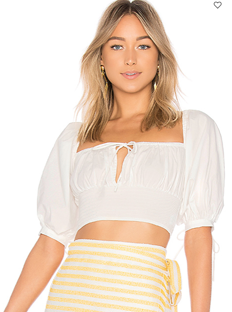 PUFF SLEEVE PEASANT TOP