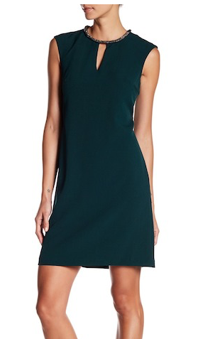 Donna Ricco Embellished Collar Dress