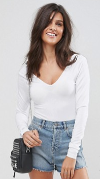 ASOS Long Sleeved Body with V Front and Back