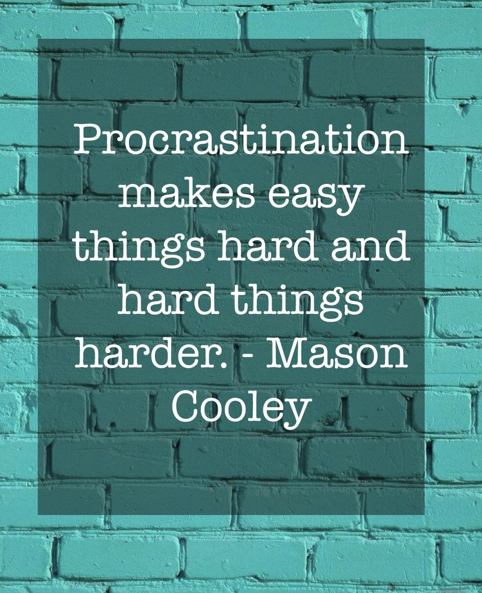 Motivation against procrastination