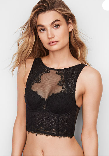 DREAM ANGELS Chantilly Lace High-neck Bra