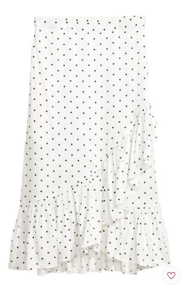 Calf-length Flounced Skirt