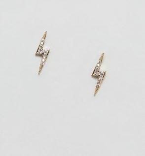 Estella Bartlett lightning bolt stud earrings in gold