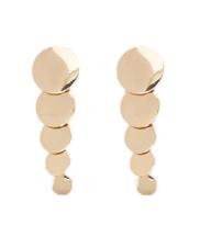 Tiered Disc Drop Earrings