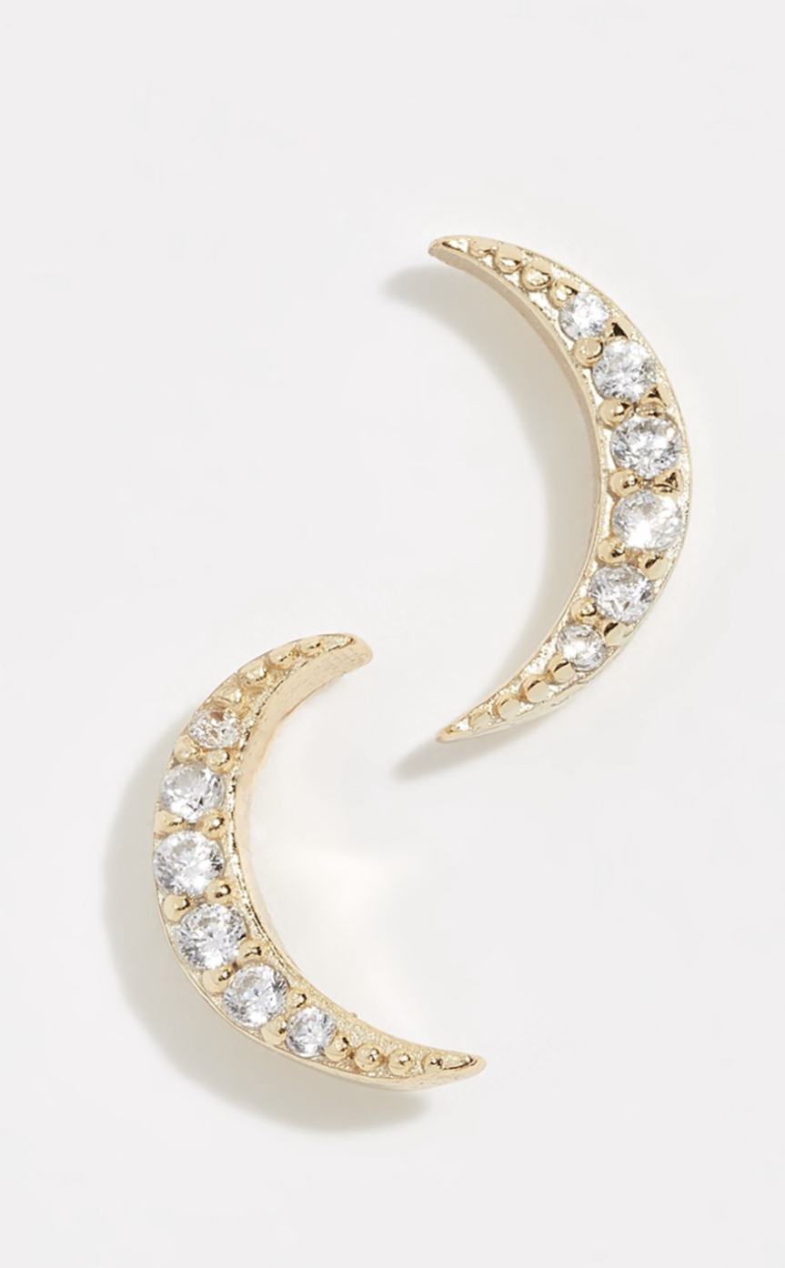 Moon Pave Studs