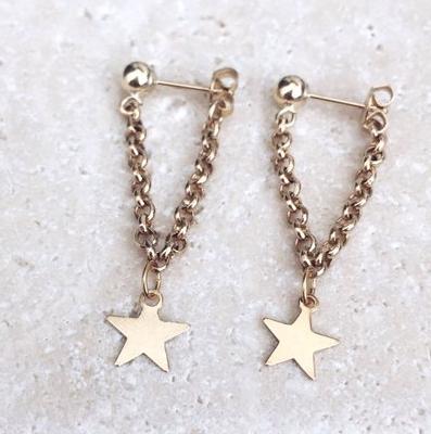 Dainty star earrings