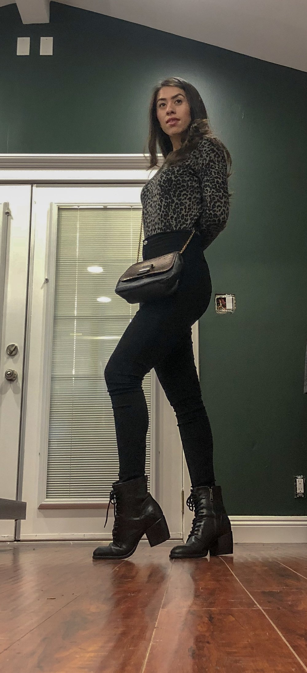Casual outfit leopard print