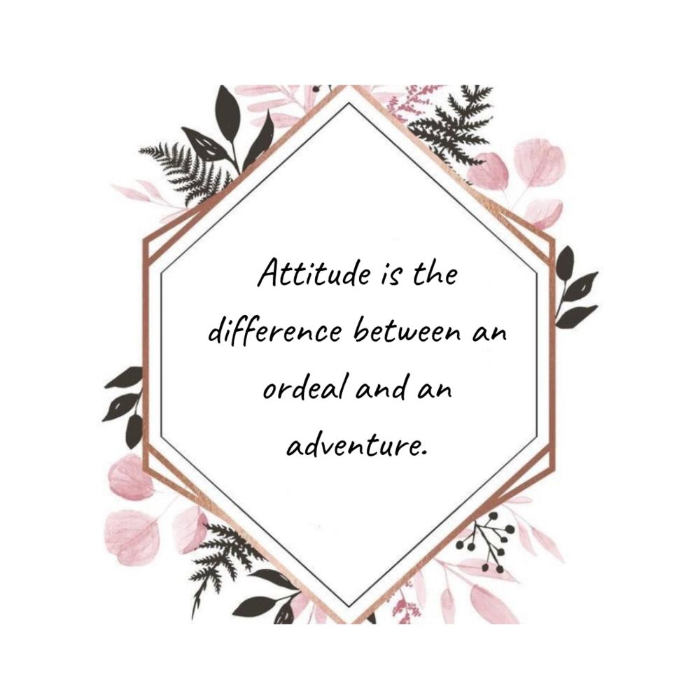 Attitude motivational quote