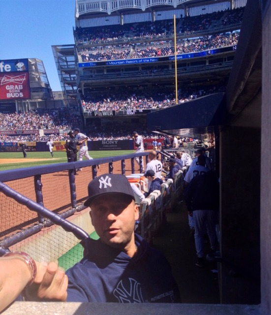 Shook hands with Jeter. He clearly moisturizes. That man is an angel.