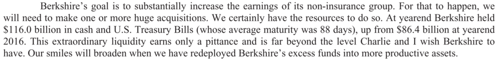 Berkshire's annual report