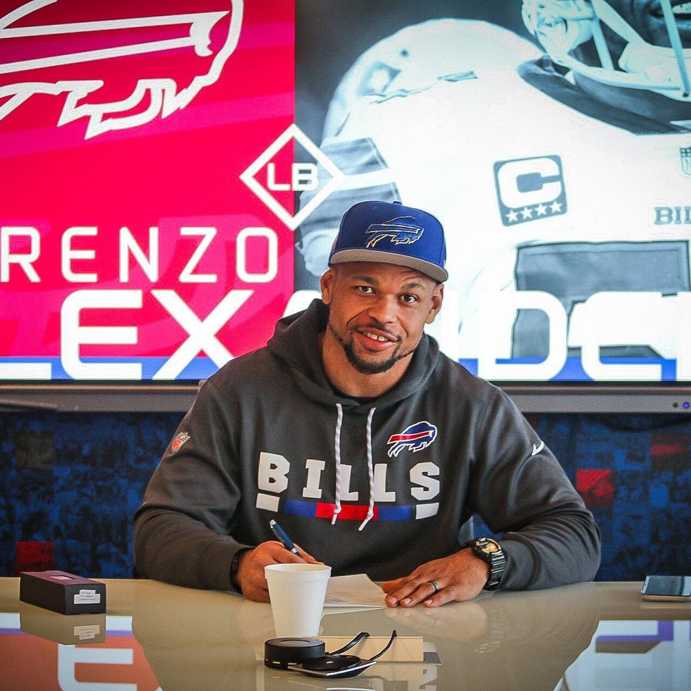 January 15, 2019 - Client Lorenzo Alexander signs a contract extension with the Buffalo Bills
