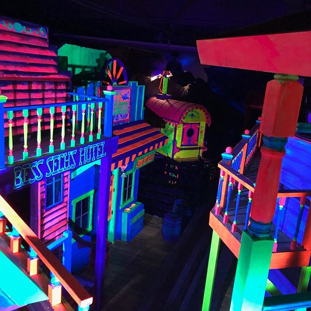 Finished #adrenalinattractions #BlacklightPainting #GhostTown #CustomBuild #YouDreamWeTheme #KookyTrails