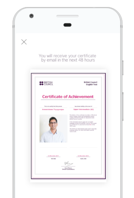 Print your certificate, share it by email, or add it to your LinkedIn profile.