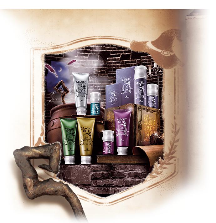 MAGIC RITE  MAGIC RITE BORN YESTERDAY (Hot-Firming Massage Gel)  MAGIC RITE SURGE OF RHYTHM (Skin Energizing Pack)  MAGIC RITE MOIST APPROACH (Hydrating Essence)  MAGIC RITE BACK TO THE PRIME (Wrinkle Care Essence)