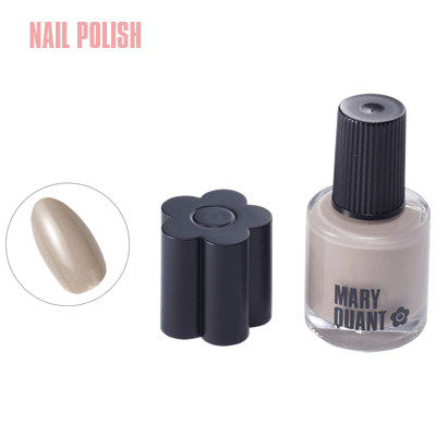 This nude grey-beige nail colour goes perfectly with any skin tone.