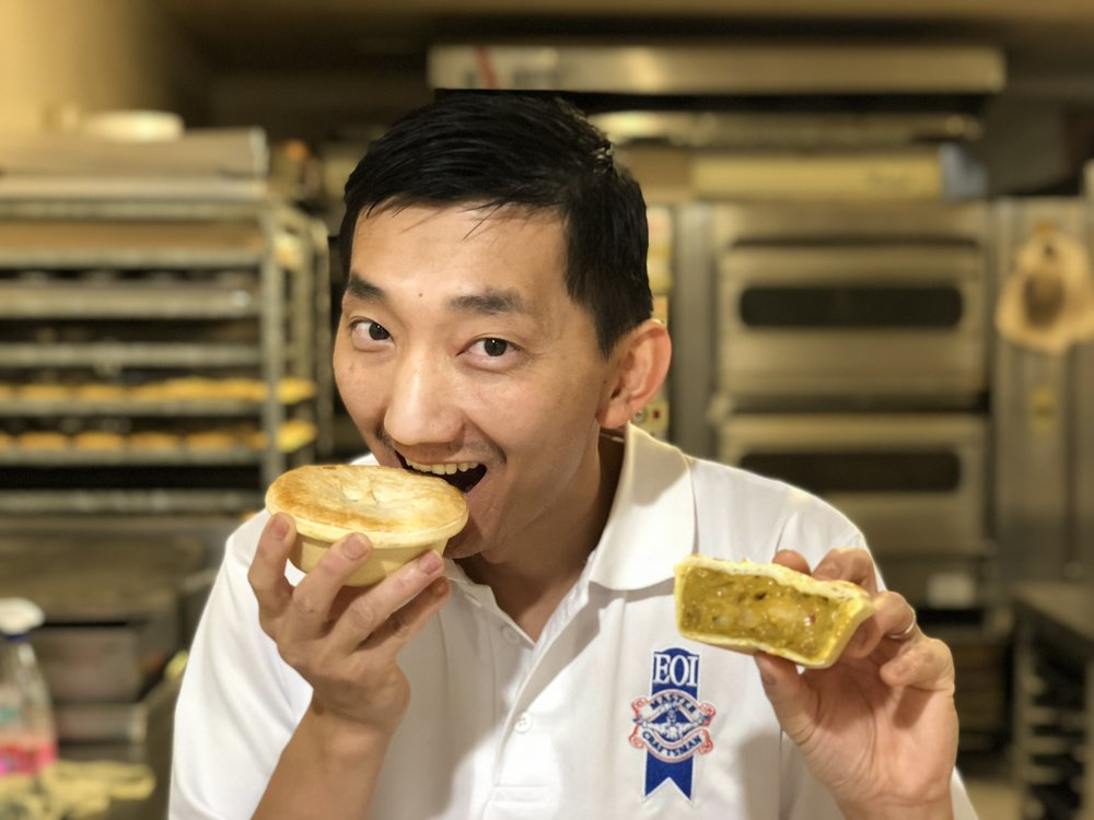 2018 Pie winner, Chan Khun, owner of Country Cobb Bakery in Kyneton, Victoria