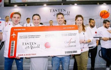 The 2019 winners - Chef Francesco Guarracino and his team members from Europe.