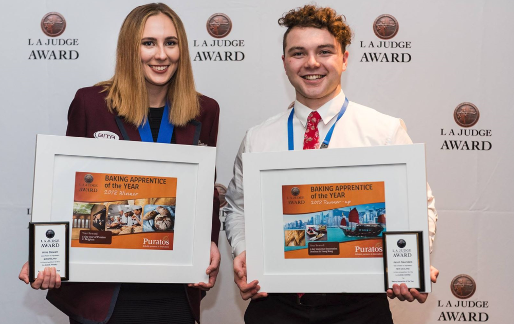 Winner of 2018 LA Judge Award Amy Stewart from Queensland, Australia and runner up Jacob Saunders from New Zealand.